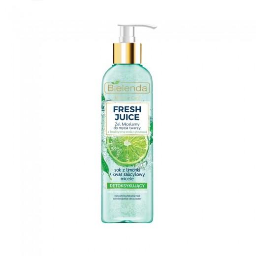 Bielenda Fresh Juice lime detoxifying micellar cleansing gel