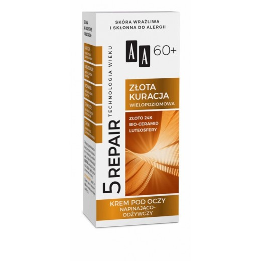 AA 5 Repair Golden Therapy tightening nourishing eye cream 60+