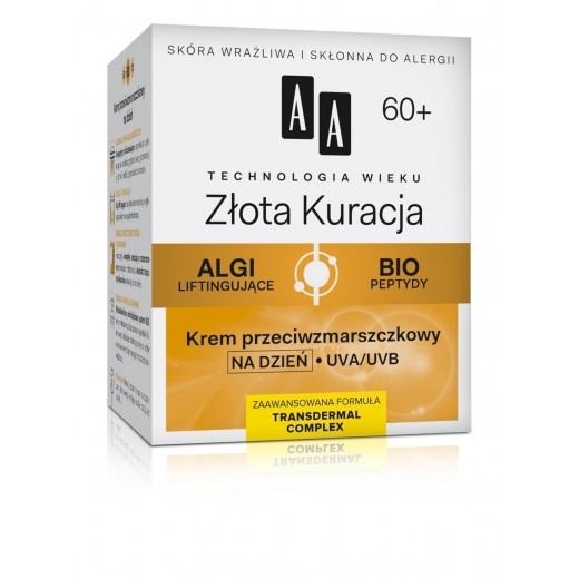 AA Golden Therapy anti-wrinkle day cream 60+