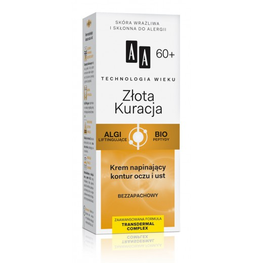 AA Golden Therapy firming eye and lip contour cream 60+