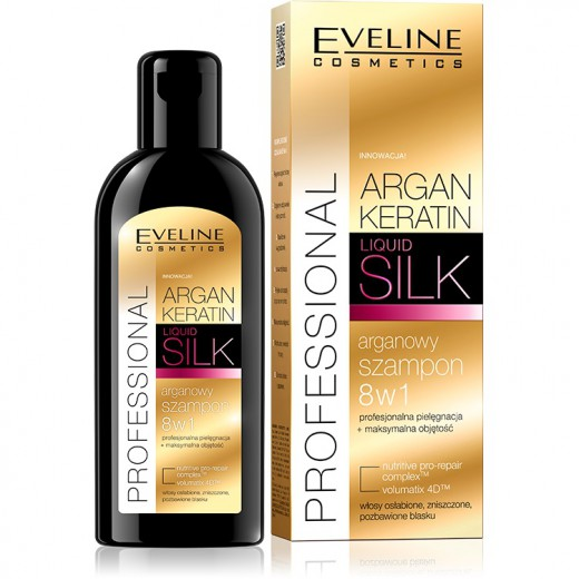 Eveline Argan + Keratin liquid silk argan shampoo 8in1