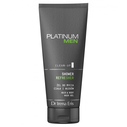 Dr Irena Eris Platinum Men Clean-Up shower refresher hair & body wash gel